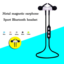 Fashion factory supply magnetic wireless headphones wireless earphones bluetooth for iphone android cellphone