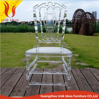 Hot Sale White Wedding Banquet outdoor Clear Resin Napoleon Chair