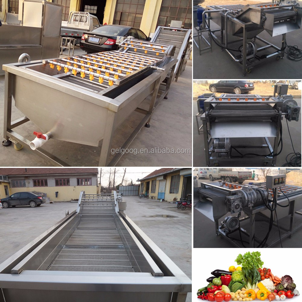 Hot Sale Industrial Tomato Dryer Ginger Spinach Cleaning Palm Apple Date Washer Fruit Vegetable Washing and Drying Machine