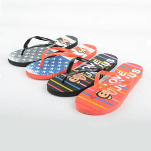 2017 wholesale cheap custom logo lovers cartoon beach flip flops