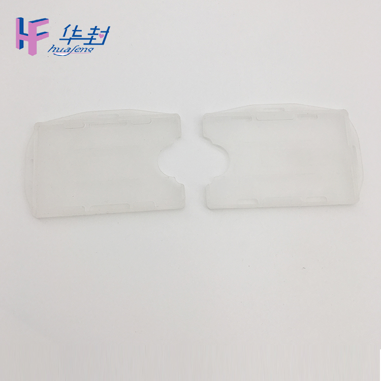 Wholesale high quality clear pvc printed plastic card holder