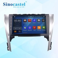 Sinocastel Best Selling 10.1 inch Touch screen android 5.1.1 quad core Toyota Camry 2012 car radio dvd with gps