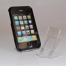 single simple design transparent acrylic cell phone display