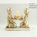 Resin religious monk figurine candle holder for sale