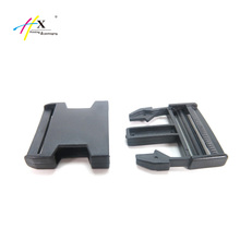 "Factory wholesale black plastic 2"" side release insert plastic buckle for backpack"