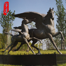 High quality outdoor garden bronze sculpture Pegasus flying horse statue for sale