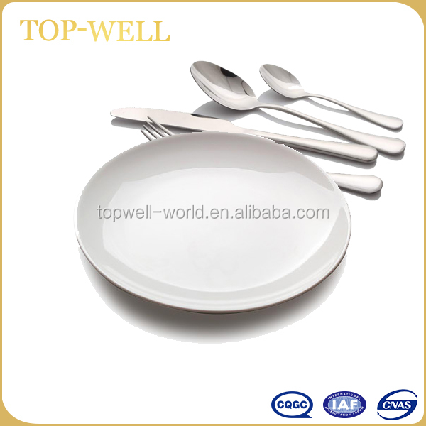 Normal white ceramic dinner plate ceramic dish for restaurant with good quality