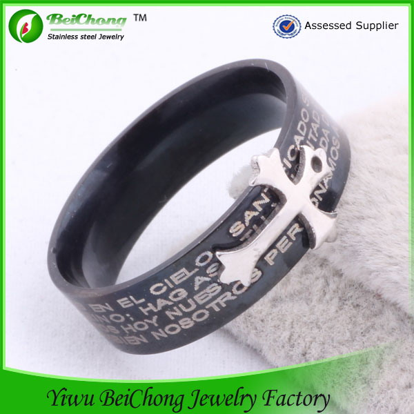 Latest Style Fast Delivery Fashion Costume Jewelry Girls stainless steel jesus ring