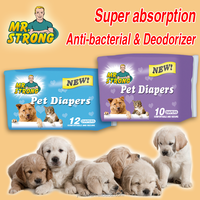 100% wood pulp anti-bacterial pet diapers of competitive price