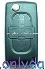 Promtion key blanks wholesale Peugeot 4 button remote key blank with battery key blank sales