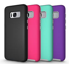 New Coming Hybrid Phone Case For Samsung S8, 2 in 1 Shcokproof Case For Android Phones Cheap