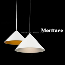 Straw hat double metal pendant lamp 2017