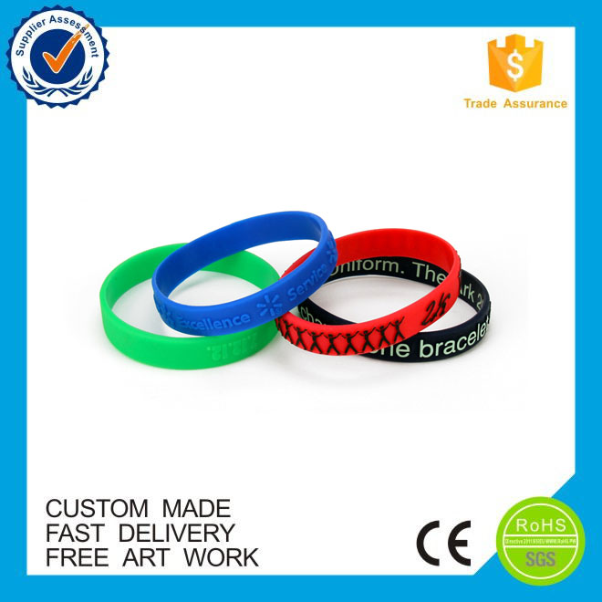 cheap personalised design color silicone bracelet engraved silicone bracelet