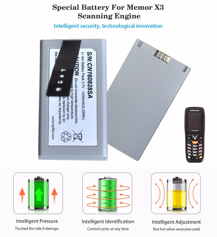 New product lithium battery for memor X3 Scanning Engine