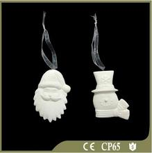 Hanging White Porcelain Christmas Ornament