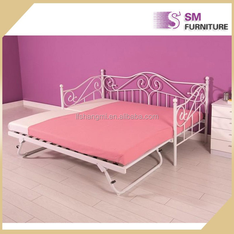 Vintage modern twin cheap metal beds wholesale for adult