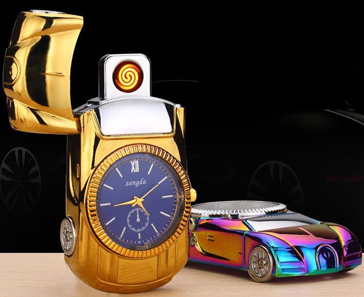 2017 Factory Watch cigarette lighter,USB charging Personalized multi-function watch lighter