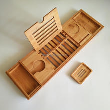 Different Style Bamboo Bath Caddy for Home and Hotel