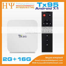 TX95 S905W Android 7.1 TV BOX 2G 16G 1080p full hd ip tv boxBT 4.0 and dual wifi Dual WIFI KD TV BOX