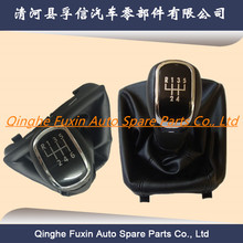 gear shifter custom knobs with giator leather boot for skoda 3t octavia ii 09-12 superb ii 08-12 yeti mk2 ii 2