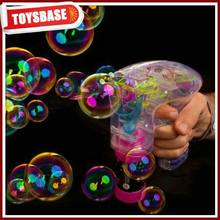 Bubble gun with light and music