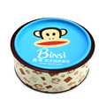 Round customized cookies food packaging metal tin boxes with cover lid