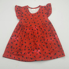 Baby girls red ruffles frocks Summer fashion girls dress Fluffy dress