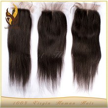 4*4 Size Top Closure virgin Brazilian Remy Hair Silk Base Closure