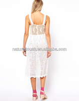 Premium Crochet Midi Sundress for women