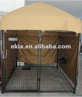 iron fence dog kennel with tent