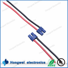 Blue gold plated EC3 male battery cable UL3135 14awg black and red wire assembly