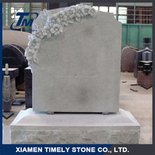 Wholesale Cemetery Flower Marble Tombstone Monument For Grave