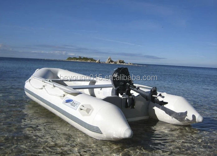 420 cm inflatable boat with aluminum floor 0.9 mm pvc for 7 person