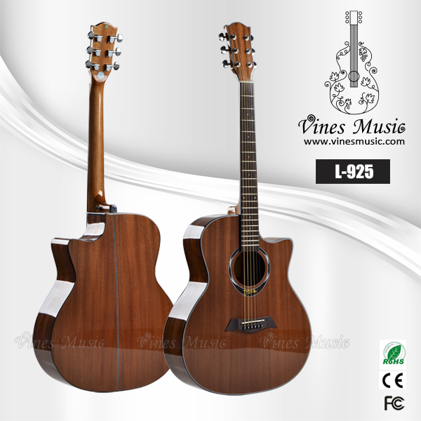 high gloss chinese <strong>manufacturing</strong> and sapele acoustic guitar
