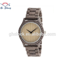 2017Bosheng: (W6010) Latest design bamboo wood watch colorful leisure wooden watch men's watches