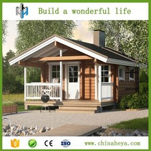 Light steel waterproof log cabins prefabricated luxury villas made in China