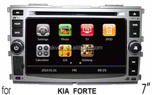 (for KIA FORTE) 7 inch two din Car DVD Player with GPS, bluetooth