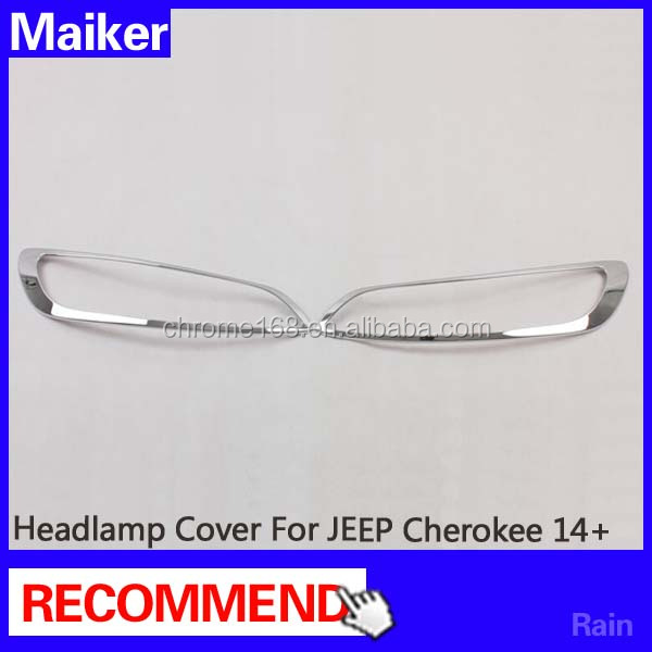 Headlamp Cover Auto Accessories for JEEP Cherokee 2014 led headlight cover from Maiker