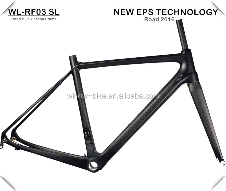Winow 2016 New EPS Technology 700c super lightweight aero carbon road frame stiffness SL carbon road bicycle frame