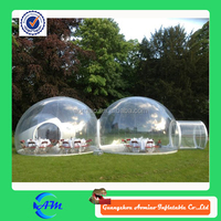 Two room clear inflatable lawn tent PVC good quality inflatable lawn tent for sale