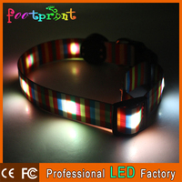 strong pull force durable pet necklace led light up bright dog collar flash in the dark