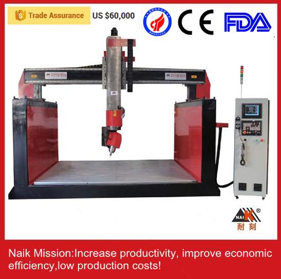 stone cnc router/ 5 axis cnc stone carving machine