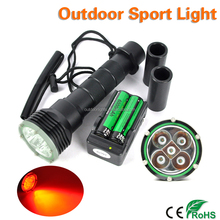 80m Underwater LED Diving Flashlight Waterproof Torch Red