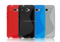 Soft TPU Gel S line Skin Cover Case For HTC Desire 601