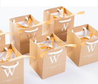 creative champagne gold color wedding paper bag