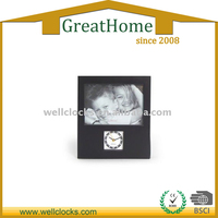 Black Photo frame antique table clock