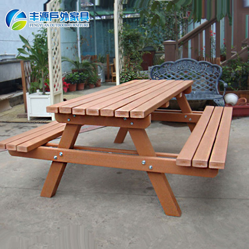 New Design Wooden Picnic Garden Dining Set Wooden Table And Bench