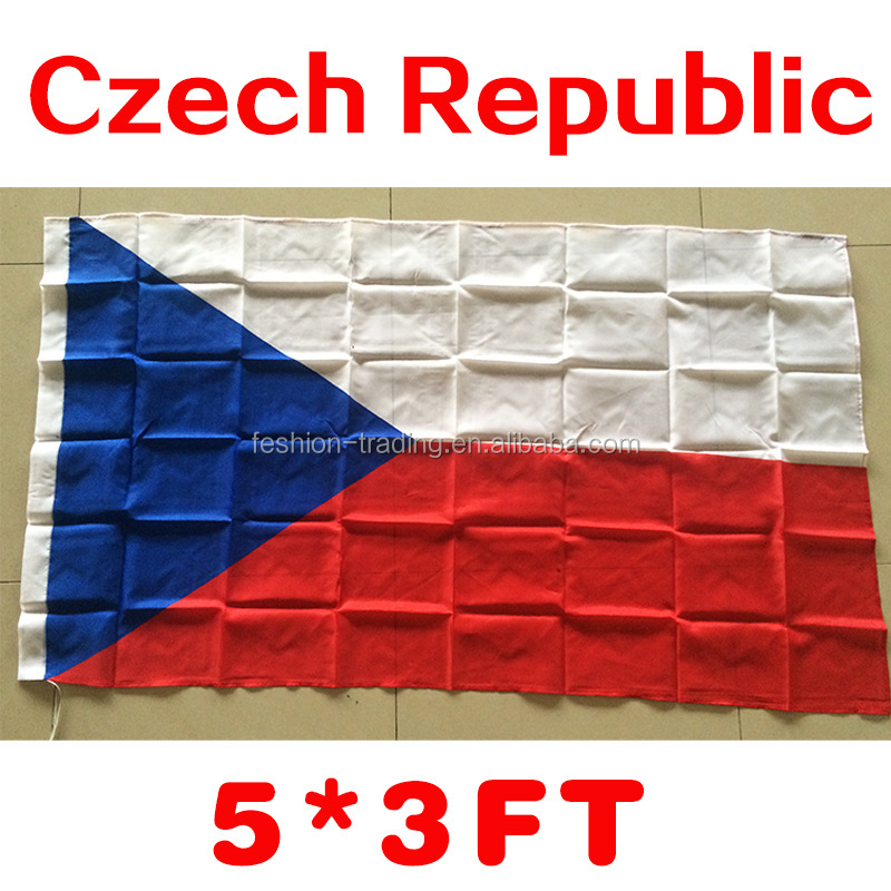 wholesale Flags of the World 100d polyester czech republic flag for decorative custom UEFA champions