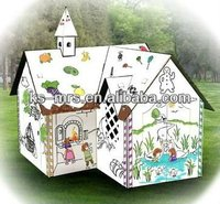 Indoor Cardboard Playhouse ,Wooden dolls houses
