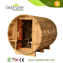Factory direct wholesale sale barrel wood fired saunas room